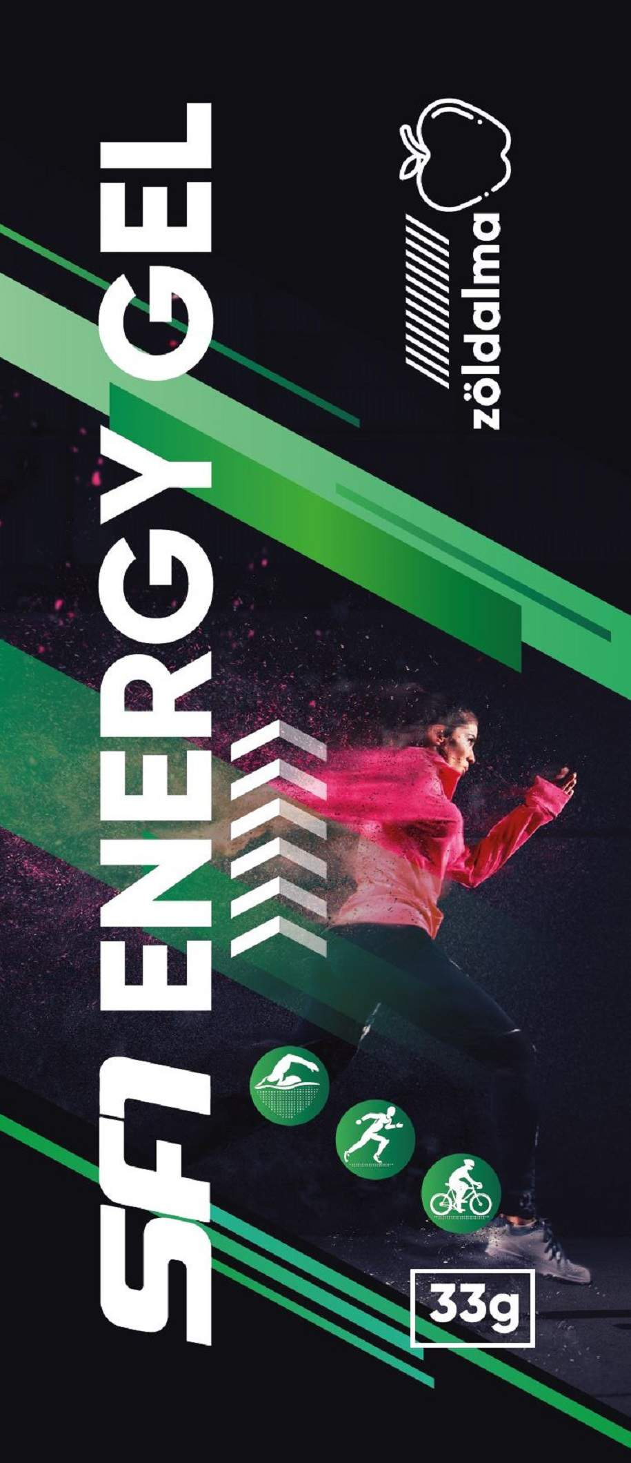 SF1 energiagél koffeinmentes zöldalma ízű