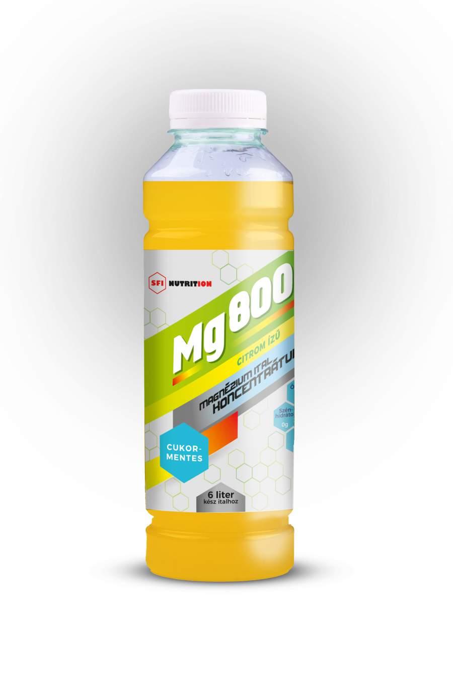 Mg 800 cukormentes magnézium koncentrátum citromos ízű